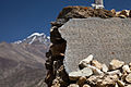 Inscribed slate on a chorten (4521475414).jpg