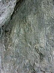 Schneidjochinschriften/ Gesteinsinschriften Wildalm