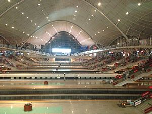 Wuhan railway station - Inside view