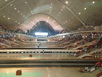 Wuhan railway station - Inside view