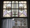 Interieur, aanzicht glas-in-loodbovenlicht - 's-Gravenhage - 20366048 - RCE.jpg