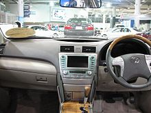 Interiors Of The Toyota Camry G Dignis Edition An Pre Facelift Red Brown Interior Wood Grain Replaced Yellow Tinged Trim After July 2007