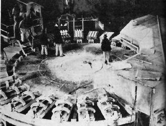 Likasi - Interior of a factory in Jadotville, Belgian Congo circa 1942
