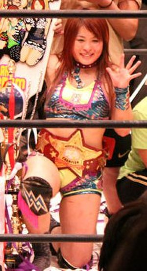 Io Shirai - Shirai as the World of Stardom Champion in April 2014