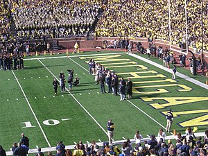1992 Michigan Wolverines football team - The 1992 team honored at Michigan Stadium on the occasion of its 20-year reunion in 2012.