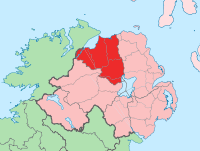 Island of Ireland location map Londonderry.svg