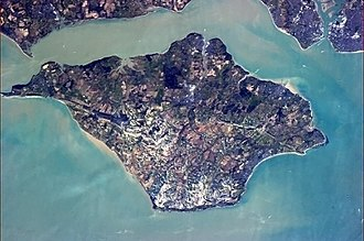 Isle of Wight - Image: Isle Of Wight From The ISS