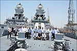 Israeli National Defence College delegation onboard INS Kochi.jpg