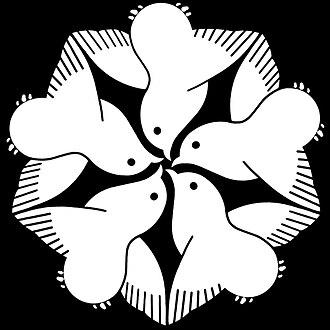 Mon (emblem) - Image: Itsutsu Chidori inverted