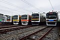 JR East 209 series and TWR 70-000 series in Kawagoe depot 20171014.jpg