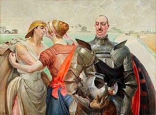 Aleksander Wielopolski z postaciami alegorycznymi (Herkules na rozstajnych drogach)