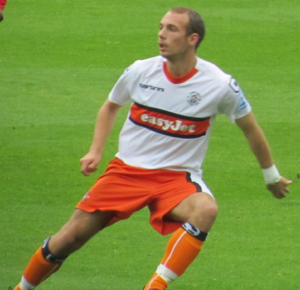 Jake Howells - Howells playing for Luton Town in 2011