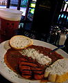 Jambalaya, with Abita (local brew) at Cajun Cabin, New Orleans.jpg