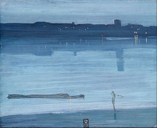 <i>Nocturne: Blue and Silver – Chelsea</i> painting by James Abbott McNeill Whistler