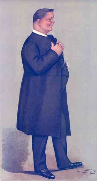 James Welldon - Welldon as caricatured by Spy (Leslie Ward) in Vanity Fair, November 1898.