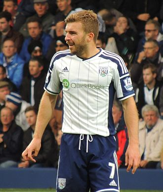 James Morrison (footballer) - Morrison playing for West Bromwich Albion in 2014