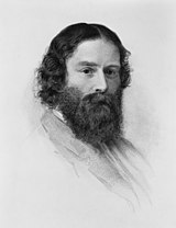 James Russell Lowell omkring 1855.