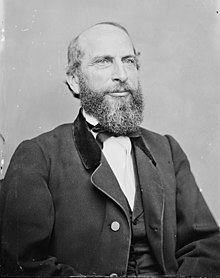 Portrait de James Speed par Mathew Brady vers 1860.
