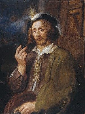 Jan Davidsz. de Heem - Circle of Adriaen Brouwer. Portrait of Jan Davidsz. de Heem. 1630s.