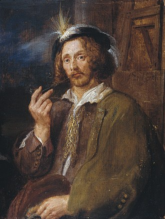 Jan Davidsz. de Heem - Circle of Adriaen Brouwer. Portrait of Jan Davidsz. de Heem. 1630s.