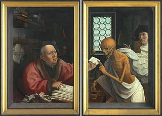 Death and the Miser (outer doors);  St. Nicolas with donor and St. Godelieve with donor (inner doors)