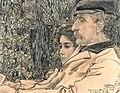 Jan Toorop - Dubbelportret van Johan Drabbe (1839-1916) en zijn dochter Mies (1875-1956), 1898 gedateerd.jpg