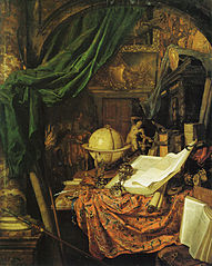 Still Life with Globe, Books, Sculpture, and Other Objects