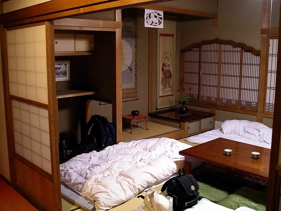 Japanese youth hostel room