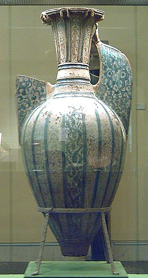 Hispano-Moresque ware - One of a number of large vases made for the Alhambra in Granada, 134 cm high