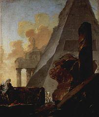 Ruinen mit Pyramide