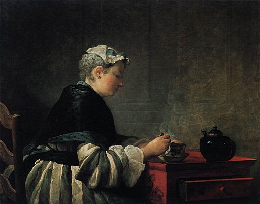 Jean Siméon Chardin - Woman Taking Tea - WGA04749