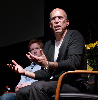 As the Paramount executive in production, Katzenberg tried to keep costs down as filming lagged behind schedule. Jeffrey katzenberg lecture 2007.jpg