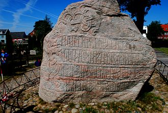 Christianization of Scandinavia - Harald Bluetooth's runestone, at Jellinge