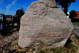 Christianization of Scandinavia - Harald Bluetooth's runestone, at Jellinge