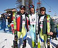 Jerman, Klinar and Vindišar at the 2010 Winter Military World Games.jpg