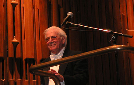 Jerry Goldsmith began a long association with Star Trek by scoring The Motion Picture. Jerry goldsmith conducts.jpg