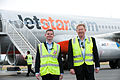 Jetstar ANZ CEO meets Tourism TAS CEO at Hobart Airport (6946693522).jpg