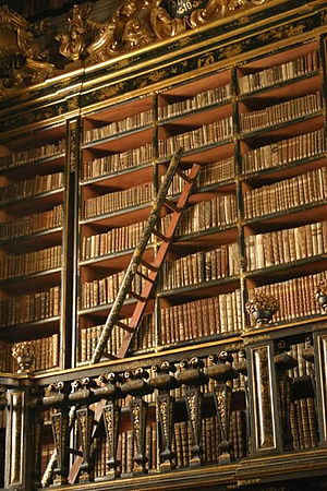 Biblioteca Joanina - The second-floor stacks in the library of the old university
