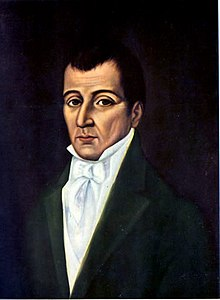 1825 oil portrait of Joaquín Camacho by Coriolano Leudo
