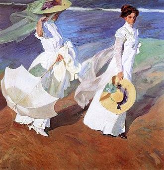 Luminism (Impressionism) - Image: Joaquin Sorolla Paseo a la orillas del mar