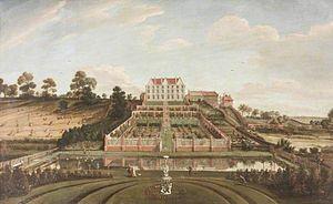 Johann Baptiste Bouttats - A Dutch mansion with garden