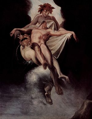 Sarpedon - Sarpedon carried away by Sleep and Death, by Henry Fuseli, 1803.