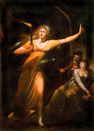 Macbeth - Lady Macbeth sleepwalking by Johann Heinrich Füssli