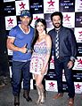 John Abraham, Shruti Haasan and Anil Kapoor at promotion of 'Welcome Back'.jpg