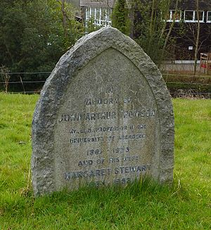 John Arthur Thomson - Thomson's grave at St Peter's Church in Limpsfield, Surrey, England, photographed in 2013