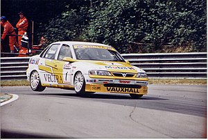 John Cleland (racing driver) - Cleland driving for Vauxhall in the 1996 British Touring Car Championship season.