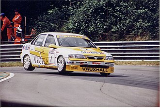 John Cleland (racing driver) - Cleland driving for Vauxhall in the 1996 British Touring Car Championship.