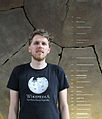 John Cummings in front of giant sequoia at NHM.jpg