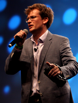 John Green speaking at VidCon in 2012.png