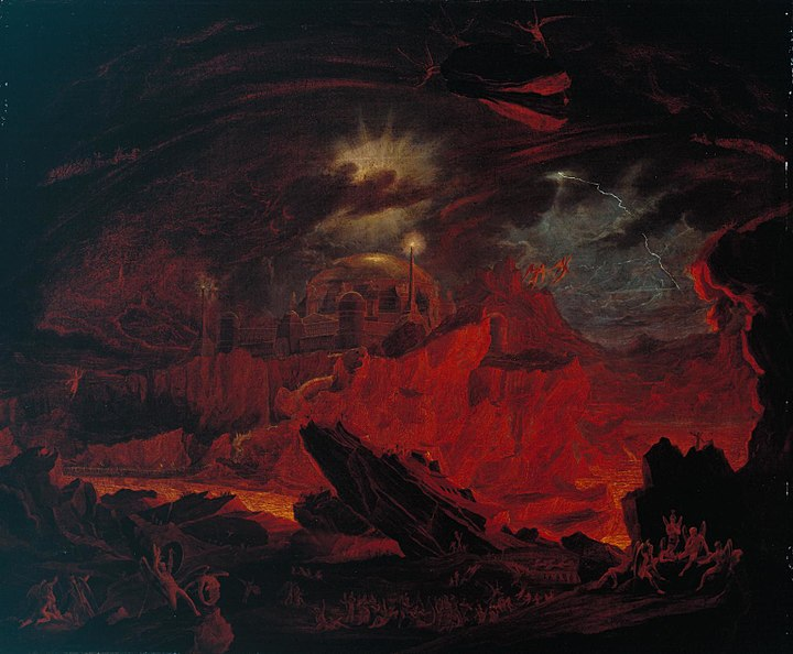 Fallen angels in Hell by John Martin